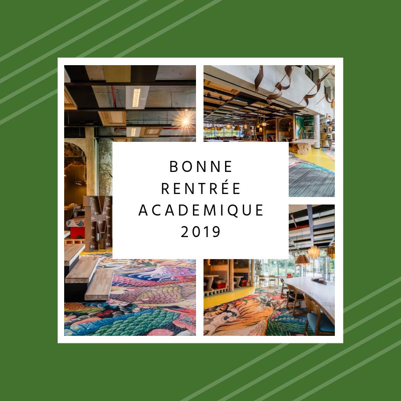 Bonne rentrée academique 2019