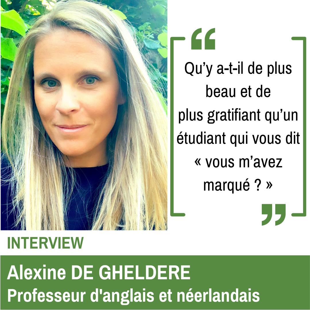 Alexine DE GHELDERE Professeur d'anglais